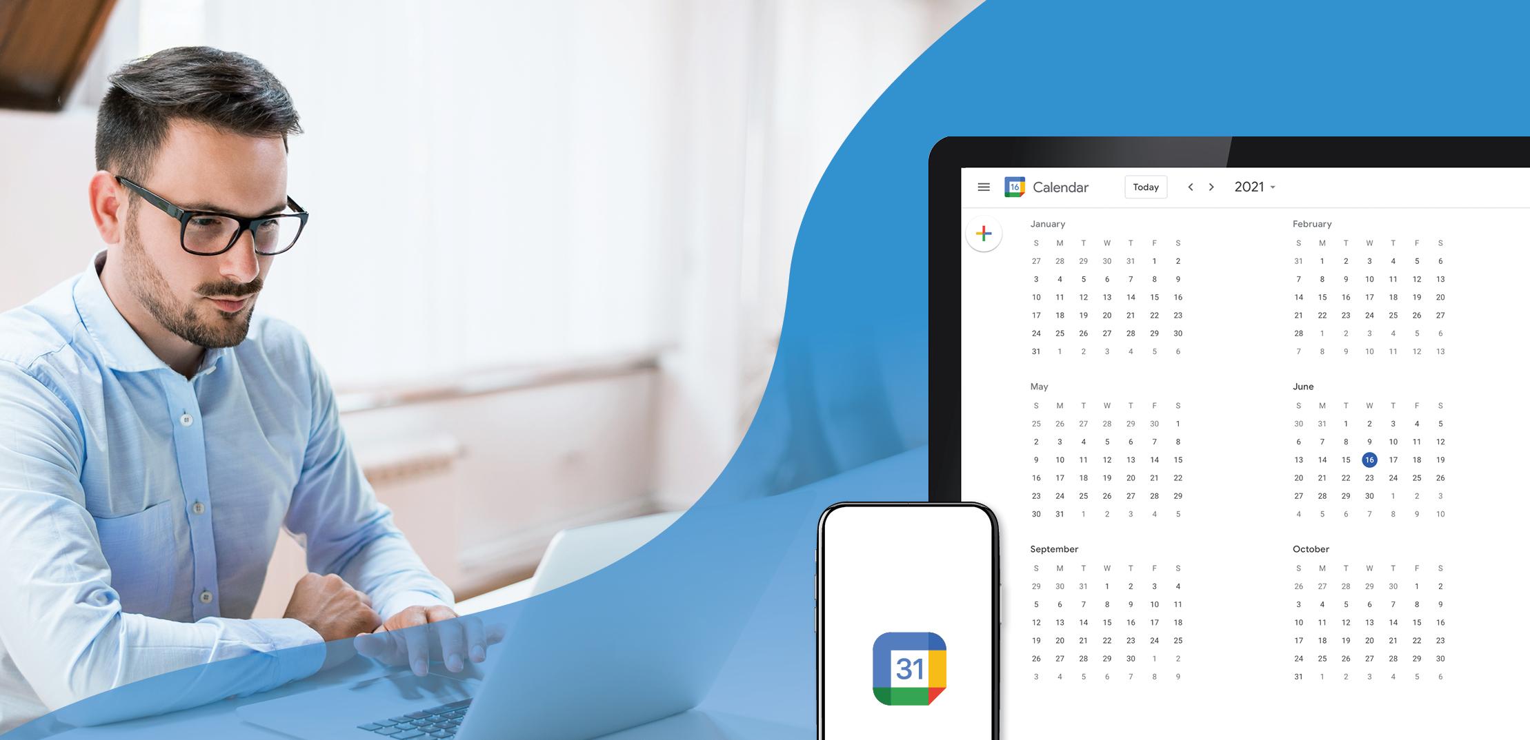 using the Google Calendar app